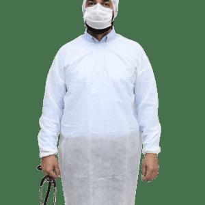 30 GSM Spun Bond Gown White
