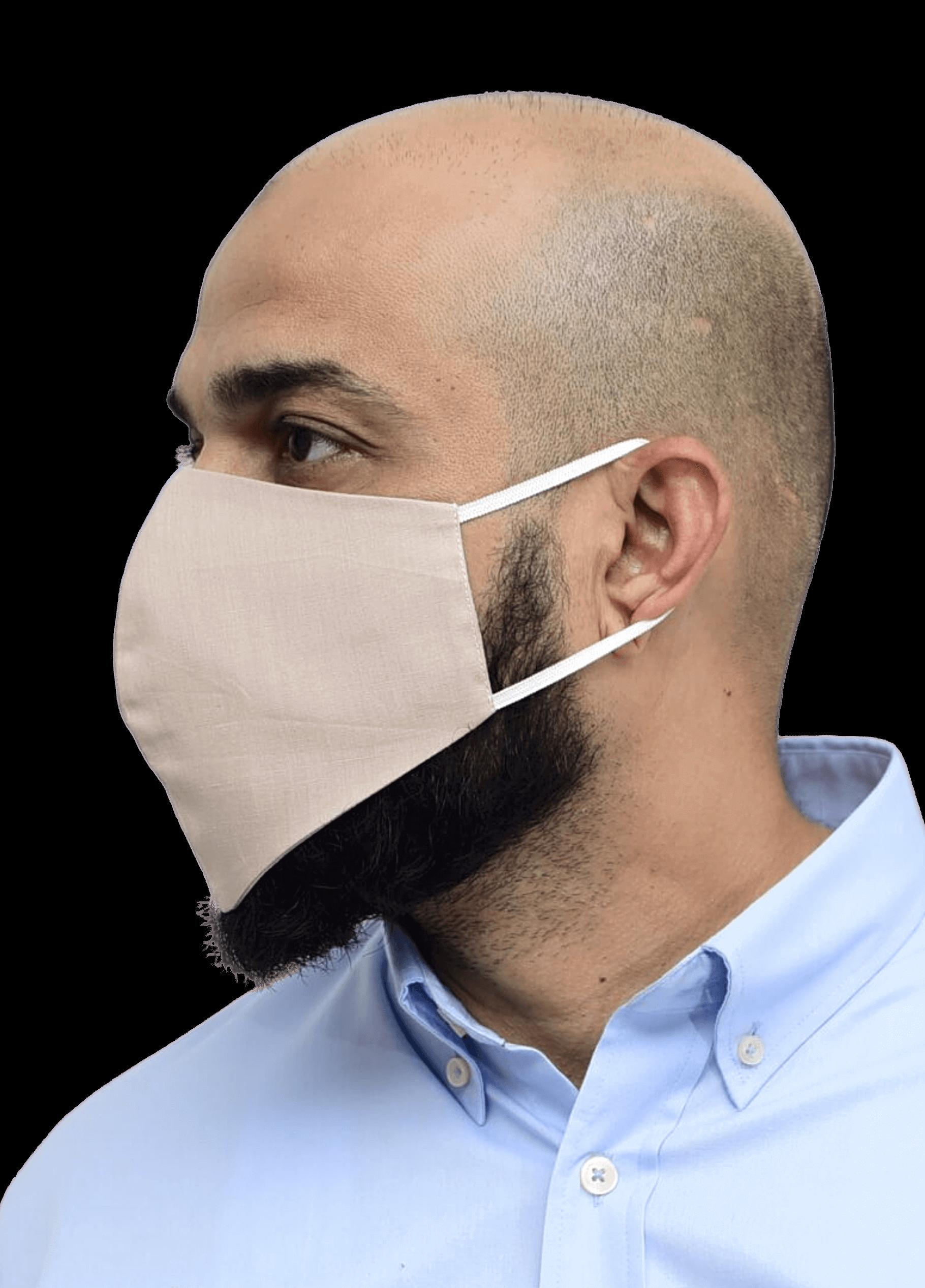 Nanofiber Filter Face Mask Beige