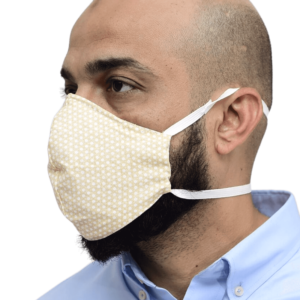 Nanofiber Filter Face Mask White Dotted