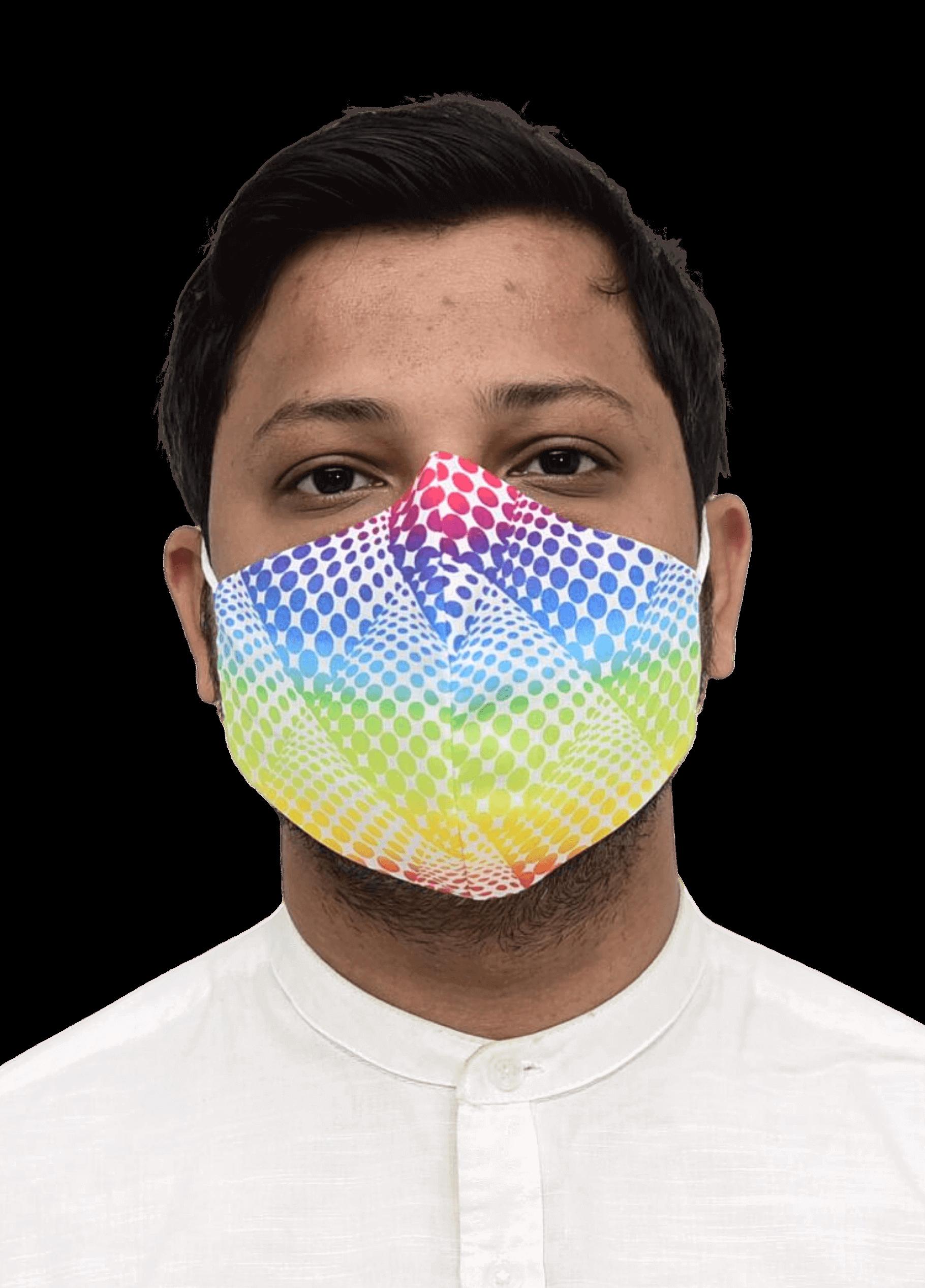 Nanofiber Face Mask Multicolor Print