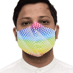 Nanofiber Multi Color Printed Face Mask