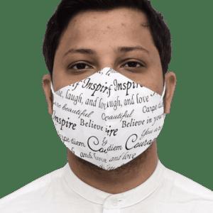 Nanofiber Technology Single Color Printed Face Mask