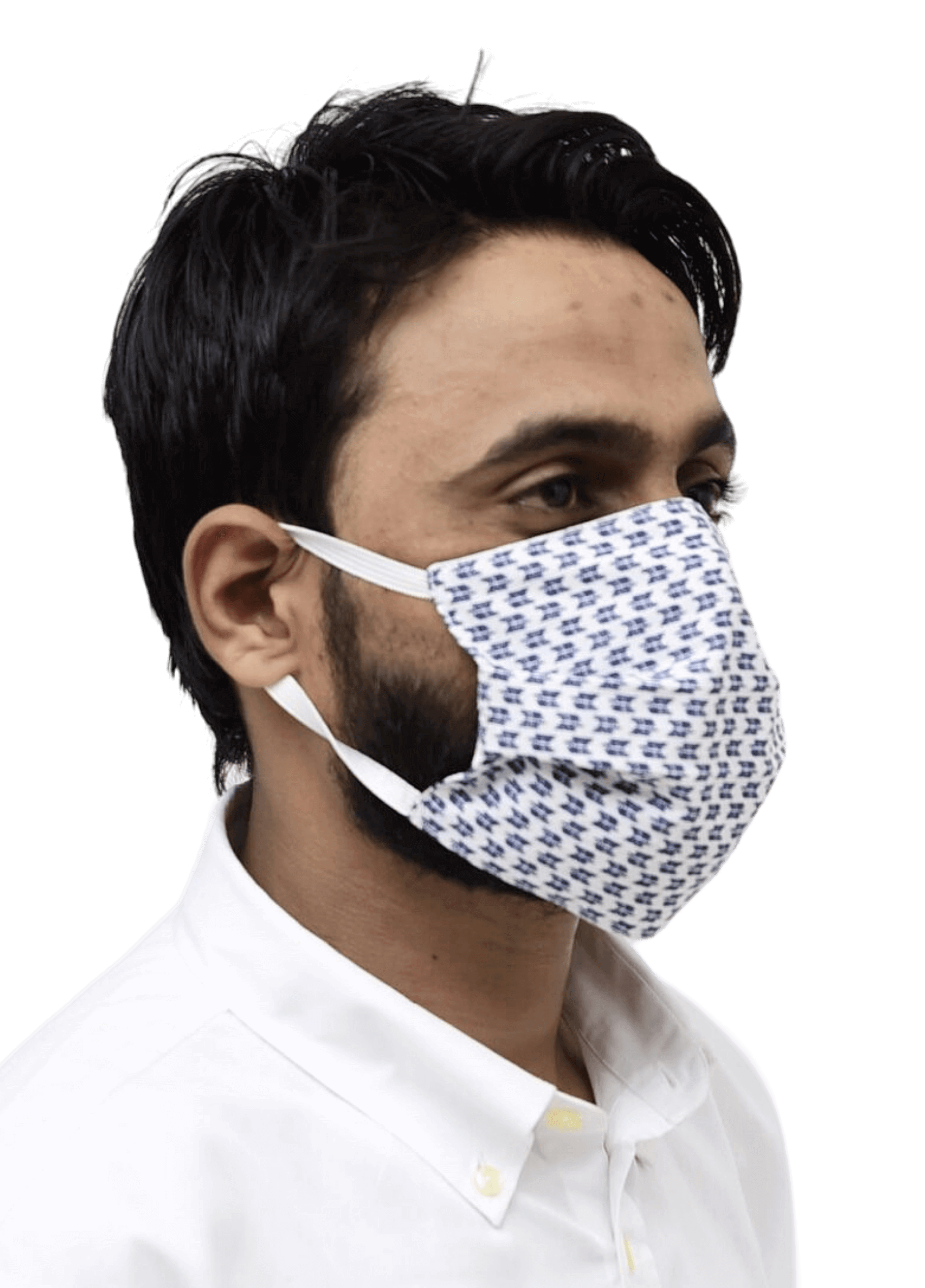 Nanofiber Face Mask Blue Pattern