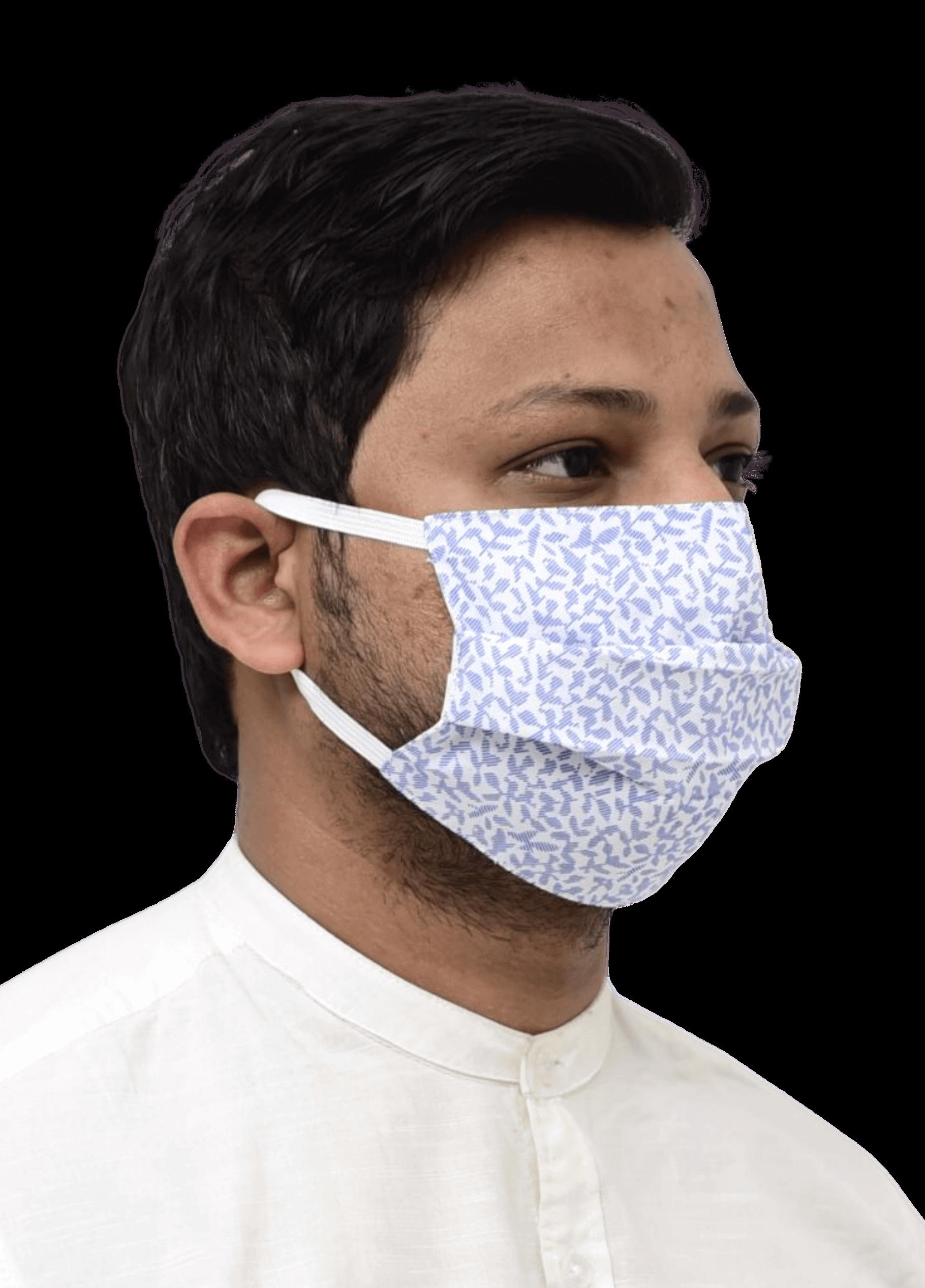Pleated Nanofiber Mask with Elastic1